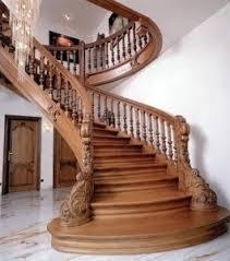 Элитные лестницы из дерева - красота во всем.