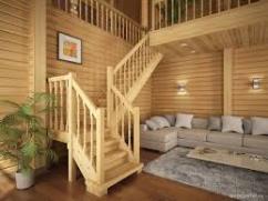 Достоинства деревянной лестницы при сооружении загородного дома