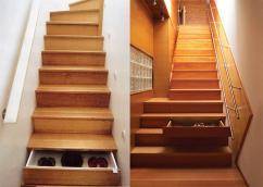 лестница из дерева для двухуровневой квартиры